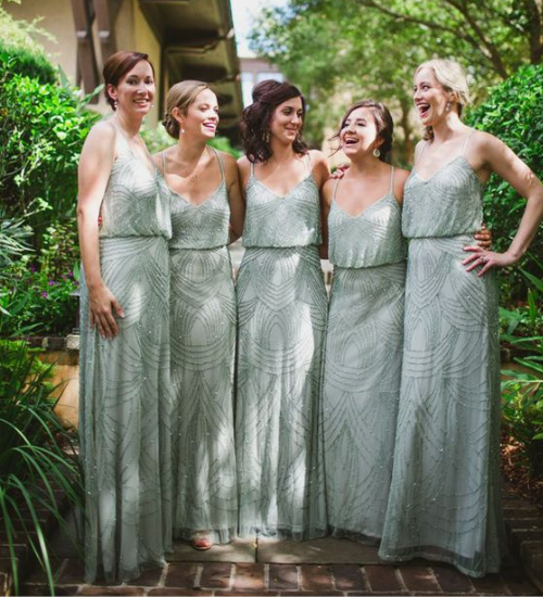 Real Weddings Study: 10 Bridesmaid Dresses That Will (Almost) Outshine The